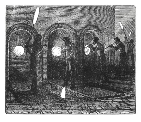 Glass plates making (antique engraving)